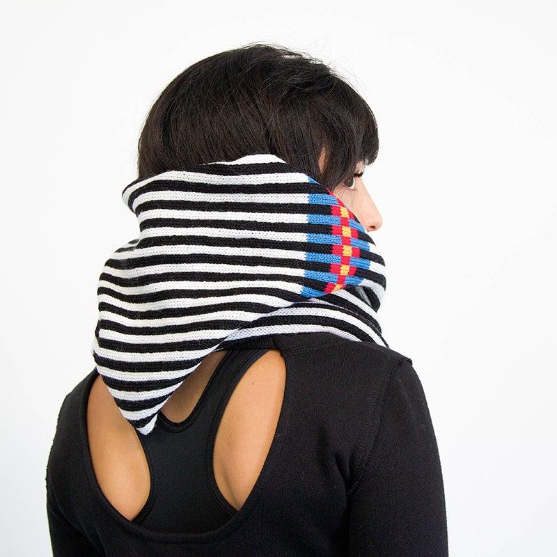 Image of Backbone Hoodie Scarf with Fringe