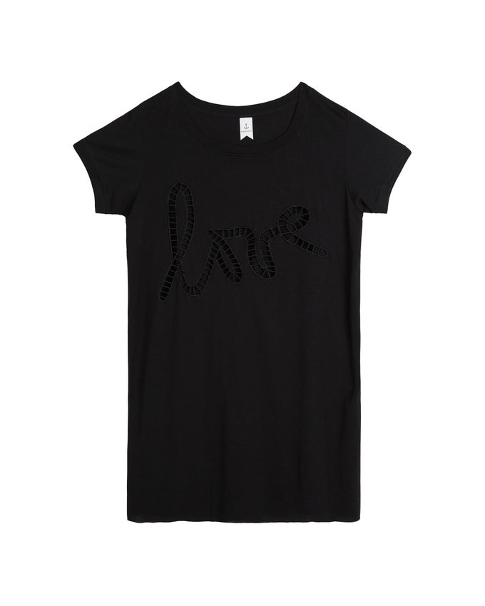 Image of LOVE TEE DRESS - BLACK