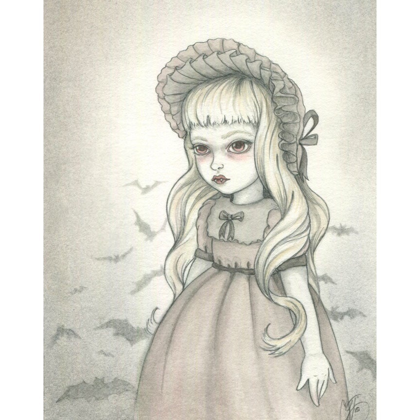 Image of Original Artwork: Vampire Girl