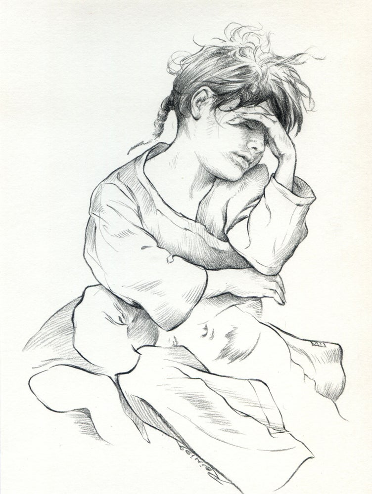 "Image of "" The Rest ""  ( original drawing )"