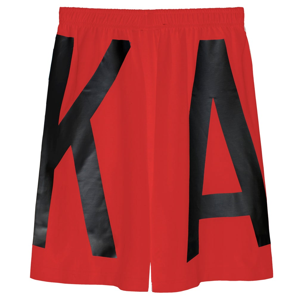 Image of ASSK WRAP LOGO Shorts - Red
