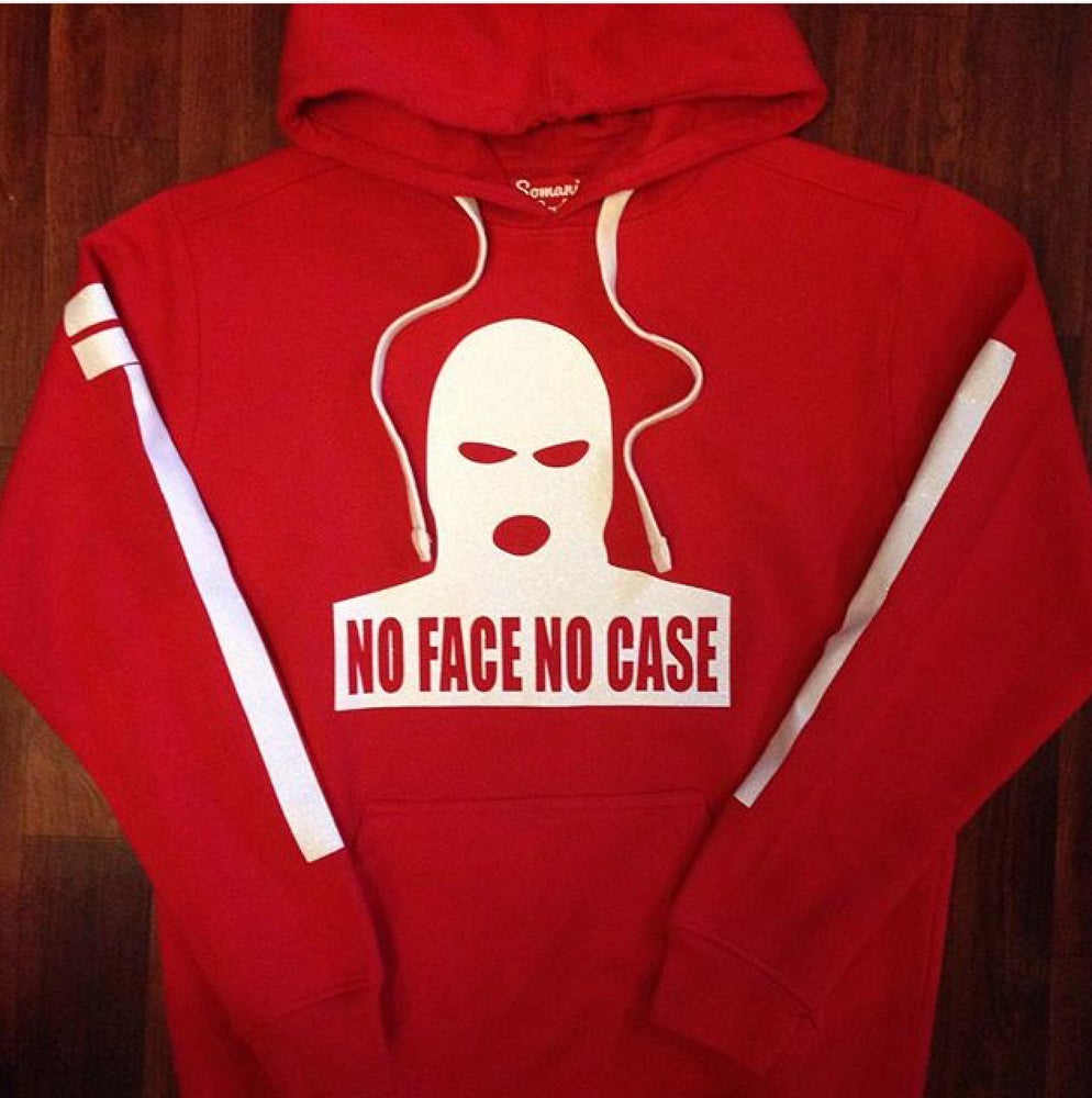 Image of Red/White ICEY NoFaceNoCase Hoodie