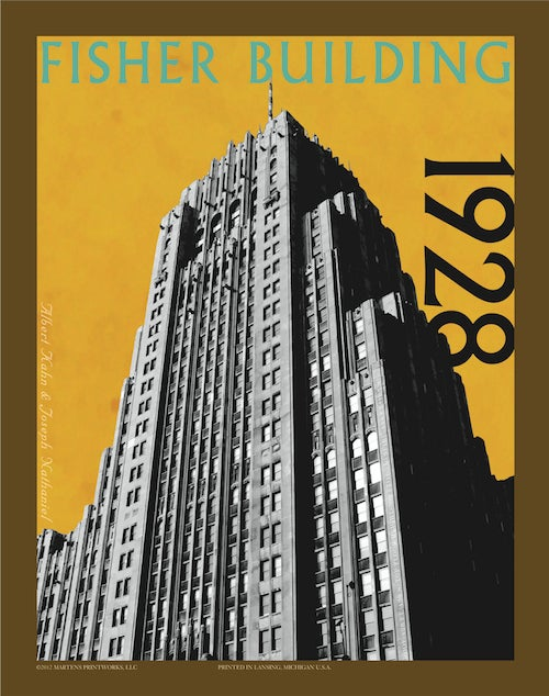 Image of Fisher Building 11x14 Print No. [025]