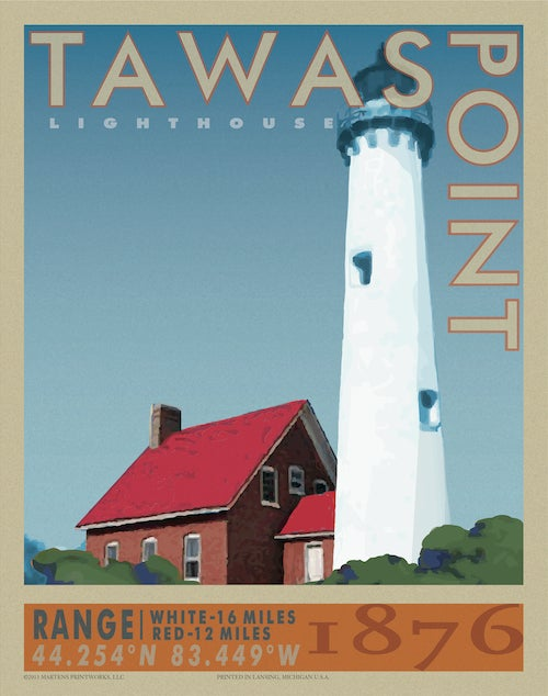 Image of Tawas Point Lighthouse 11x14 Print No. [032]