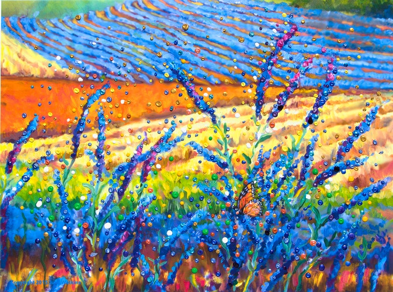 Image of Lavender Fields Energy Painting - Giclee Print