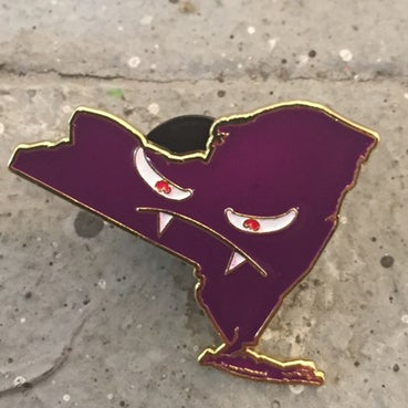 "Image of ""The Vampire State"" Lapel Pin by Branden Koch"