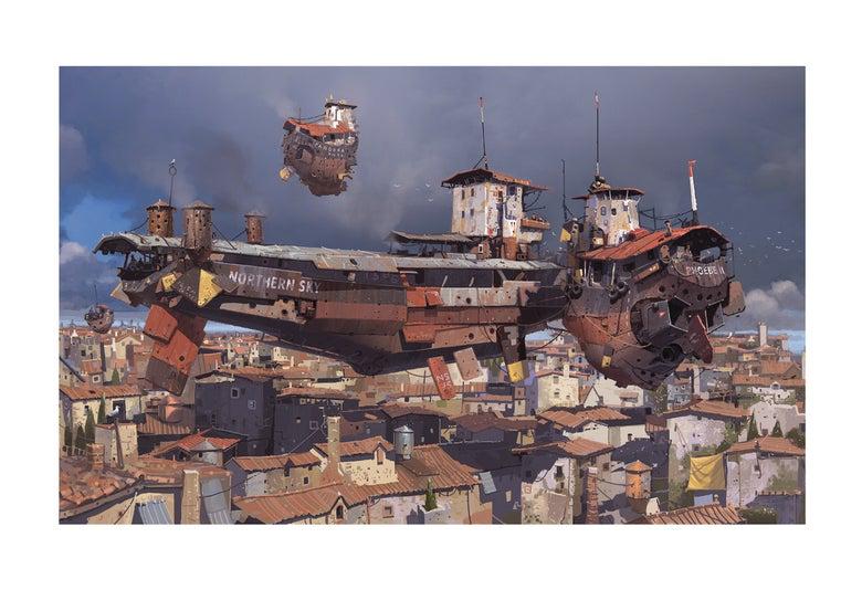 Image of 'Alongside The Bunker Barge' Print