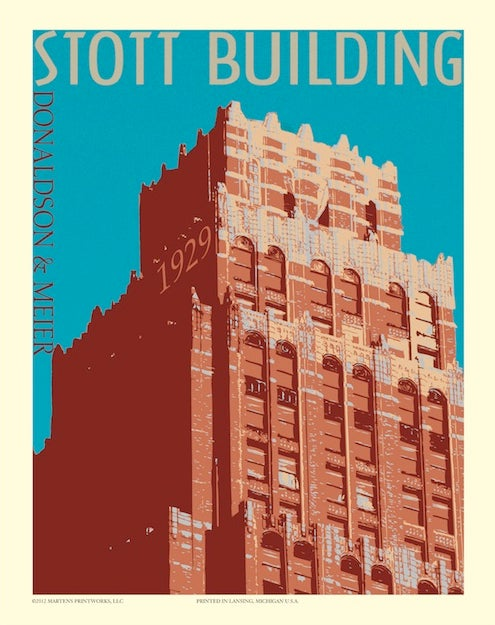Image of Stott Building 11x14 Print No. [026]
