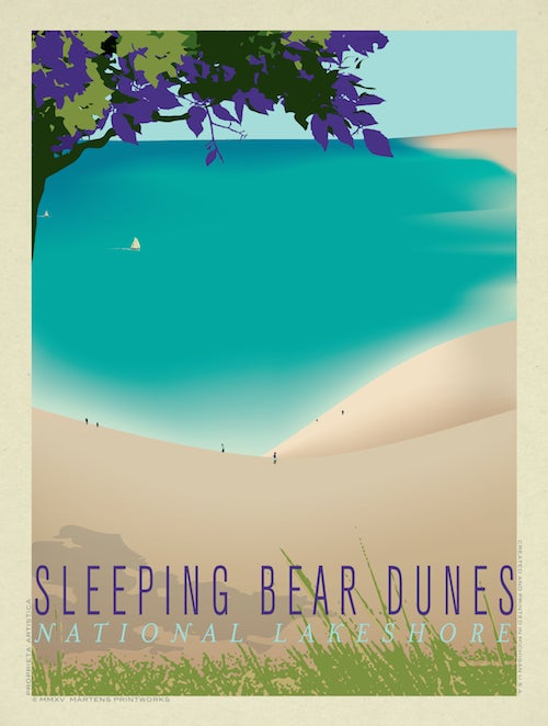 Image of Sleeping Bear Dunes 18x24 Print No. [040]