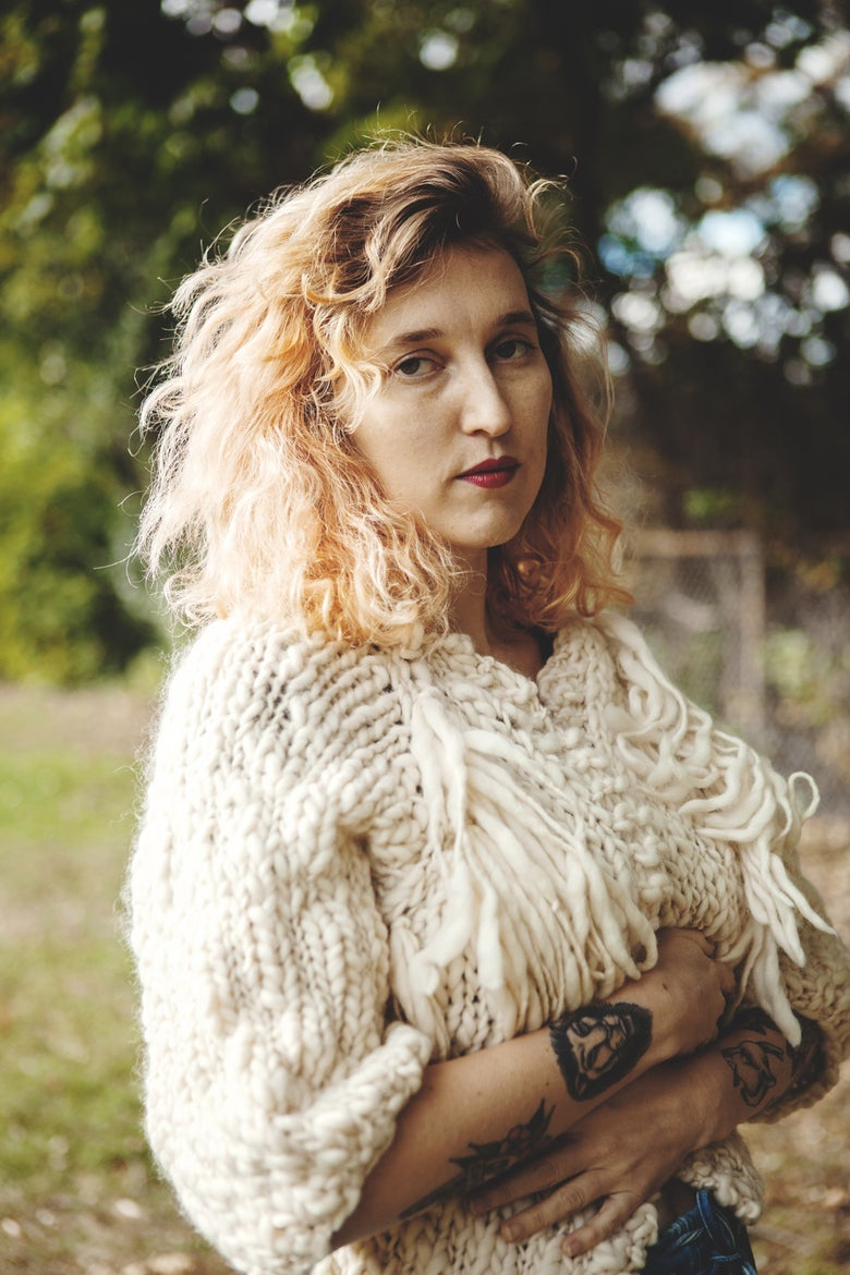 Image of perth merino wool hand knit cardigan (shown in natural w/ fringe)