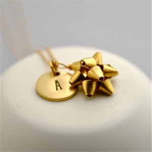 Image of Beau - Personalised Gift Bow Necklace