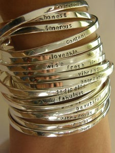 Image of Say What You Want To Say - custom cuff bracelet - custom personalized jewelry - SimaG