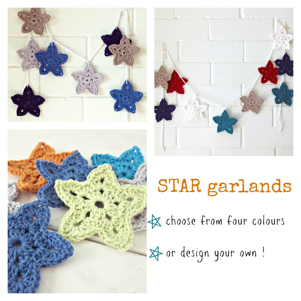 Image of star garland | crochet bunting