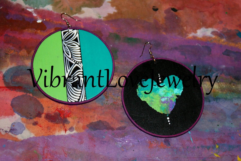 """Image of """"Middle Path II"""" Earrings!"""