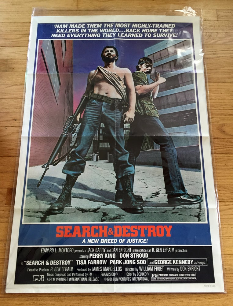 Image of 1981 SEARCH & DESTROY Original U.S. One Sheet Movie Poster