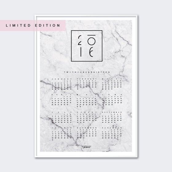 Image of Calendar 2016 Grey LIMITED EDITION