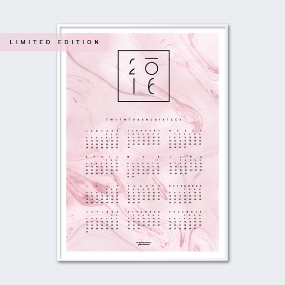 Image of Calendar 2016 Pink LIMITED EDITION