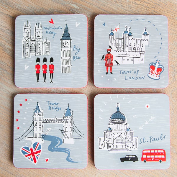 Alice Tait 'London' Set of Coasters  - Alice Tait Shop