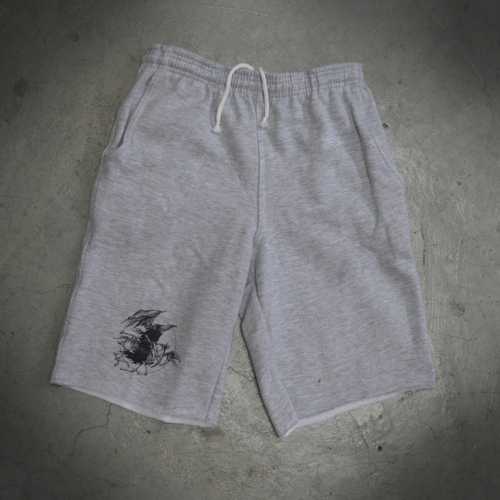 Image of grim reaper sweat shorts