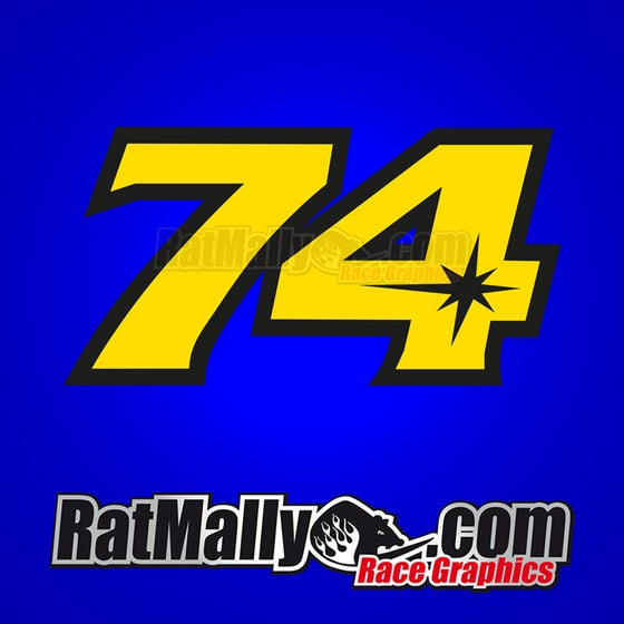 Image of #74 Daijiro Kato Race Numbers