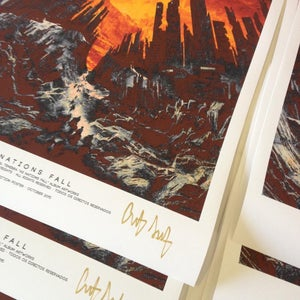 Image of Poster - As Nations Fall (signed)