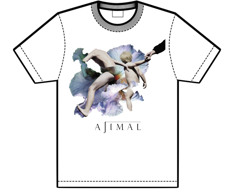 Image of AJIMAL limited edition screenprint t-shirt