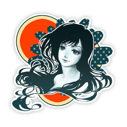 Image of Polka Dot Flower - 10''x10''