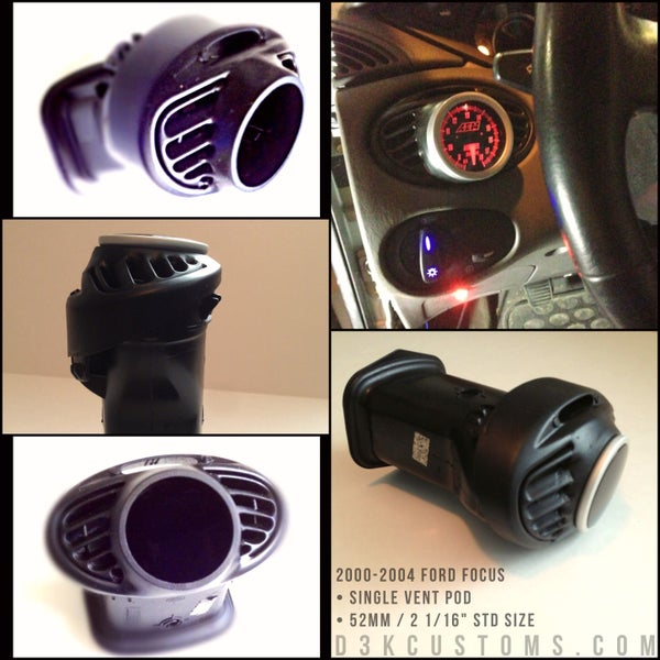 Image of Ford Focus 2000-2004 Single Vent Pod - 52mm • 2 1/16""