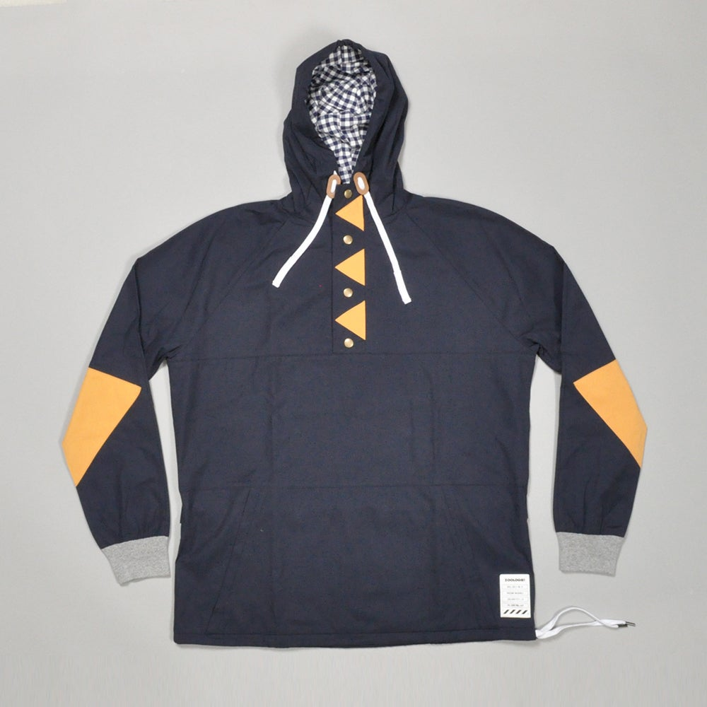 Image of 3-POINT HOODIE - NAVY