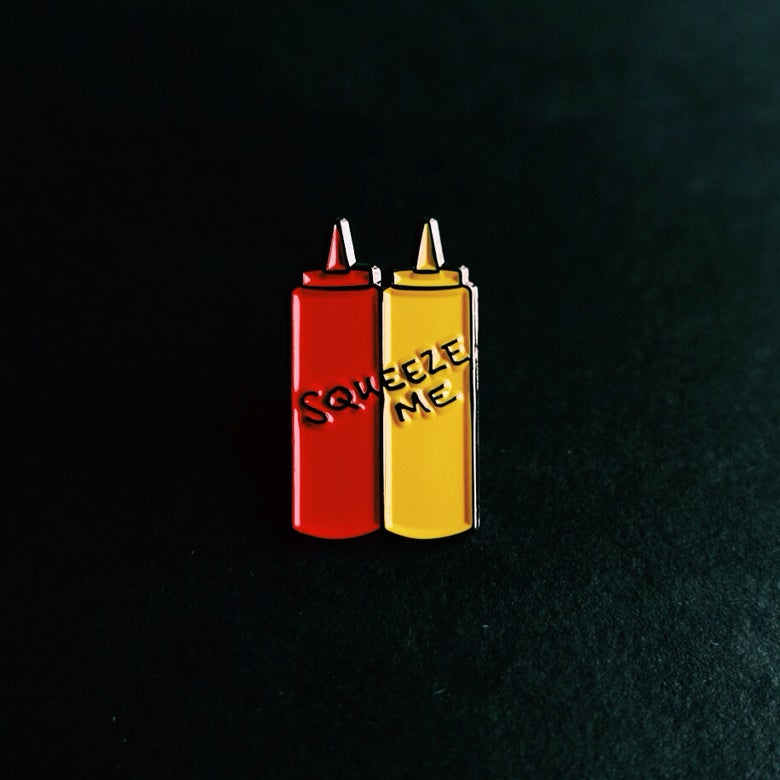 Image of ketchup and mustard - dynamic duo pin (shipping included)