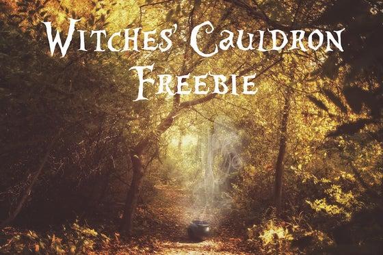 Image of Witches' Cauldron Digital Background FREEBIE