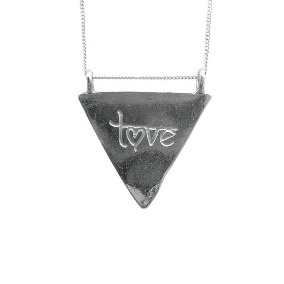 Image of Karmala Triangle Necklace Love