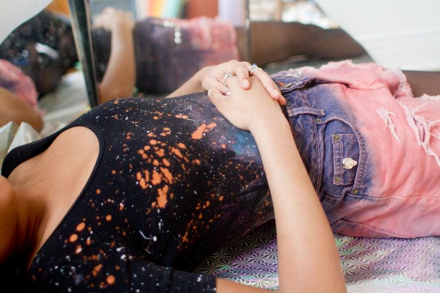 Image of Hand painted Nebula Cosmic Starburst Bodysuit