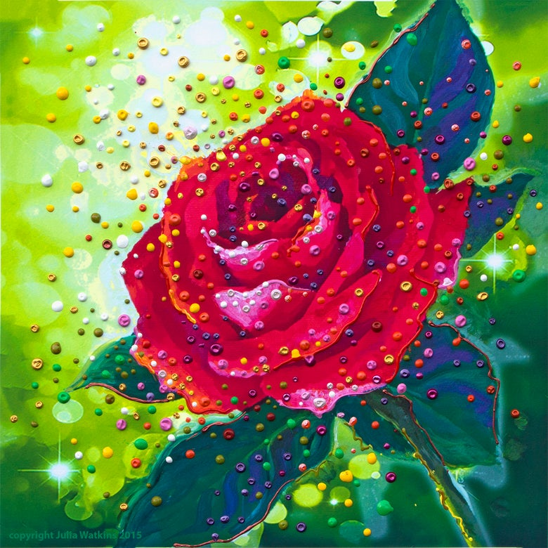 Image of The Sacred Rose Energy Painting - Giclee Print