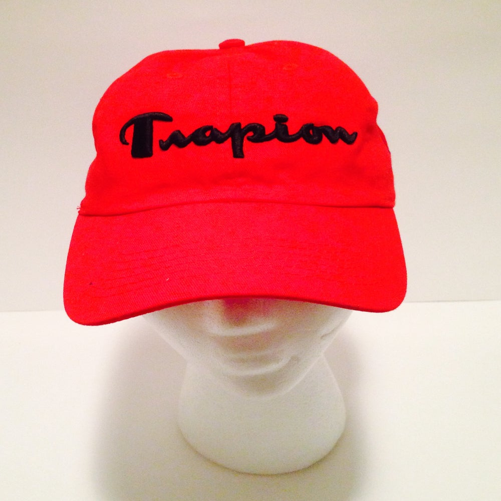 Image of Trapion strap back cap red/blk