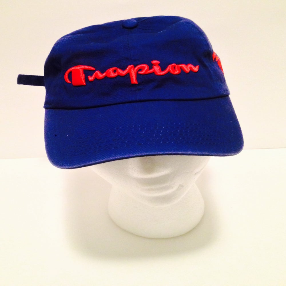 Image of Trapion strap back cap Royal/red