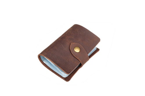 Image of Handmade Genuine Leather Card Holder, Ramdom Colors for Shipment A1503