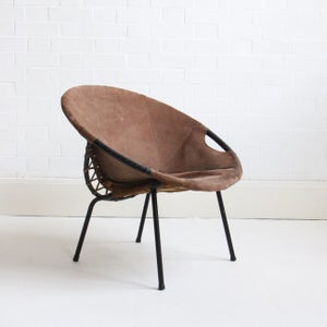 Image of German suede chair by Lusch