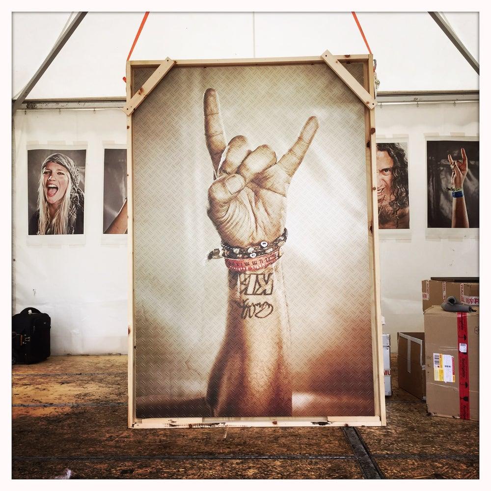 Image of Rock 'n Roll Victory Giant Metal Print