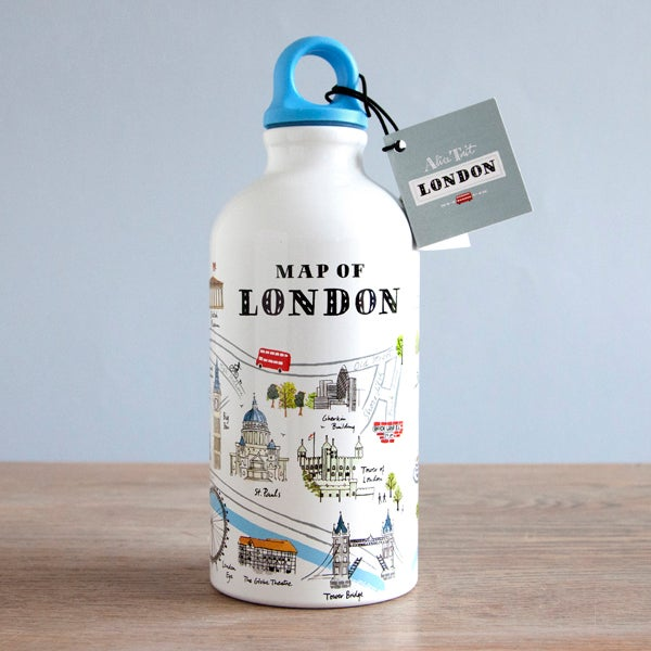 Alice Tait 'London Map' Water Bottle - Alice Tait Shop