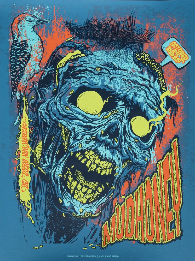 Image of Mudhoney Gig Poster/Zombie Woodpecker S/N Edition