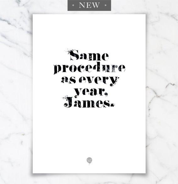 "Image of Poster: ""Same Procedure"""