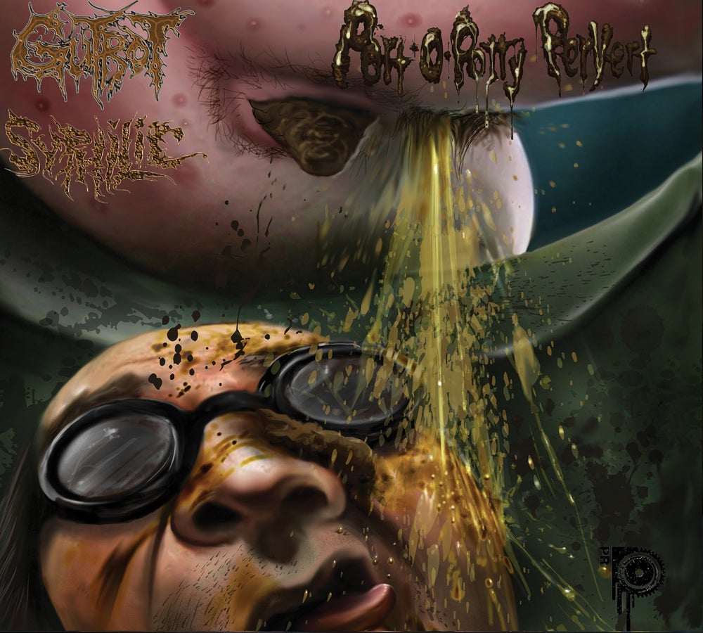 Image of Gutrot/Syphilic - Split - CD+Vinyl