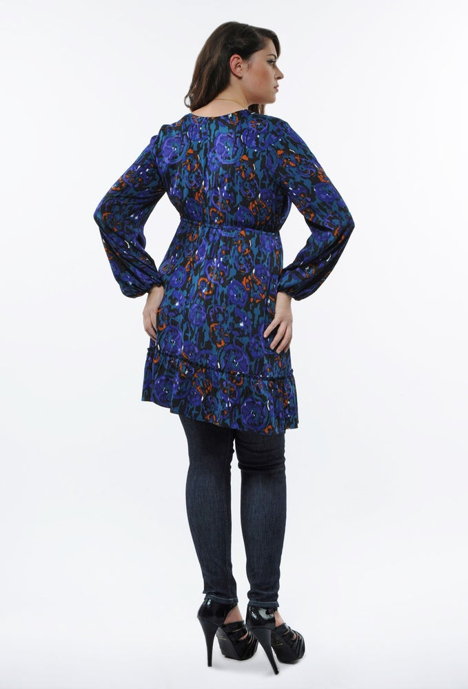 Image of Anna Scholz Double Silk Frill Dress