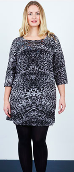 Image of Anna Scholz Silk Crepe De Chine Beaded Shift Dress in Leopard Grey