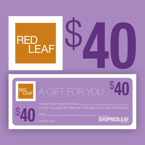 Image of Red Leaf Gift Certificate Never Expires