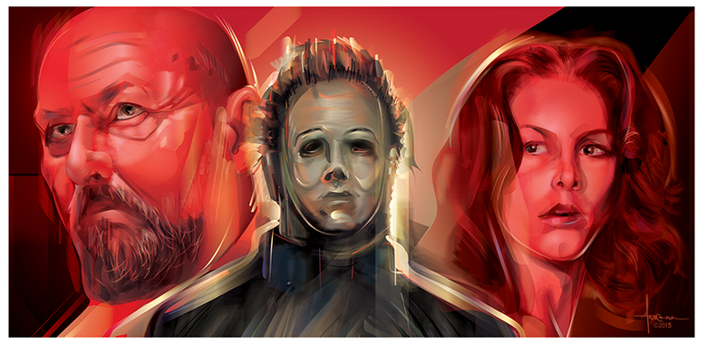 Image of HALLOWEEN-THE SHAPE-12 x24 Edition:15