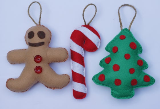 "Image of 3 PACK ""GINGERBREAD MAN CHRISTMAS"" ORNAMENTS"