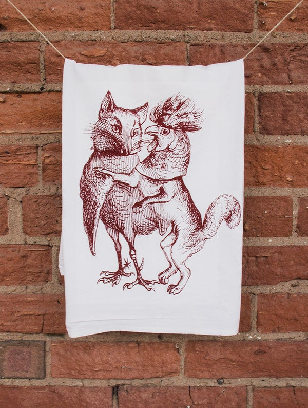 Image of Rooster and Fox Floursack Towel