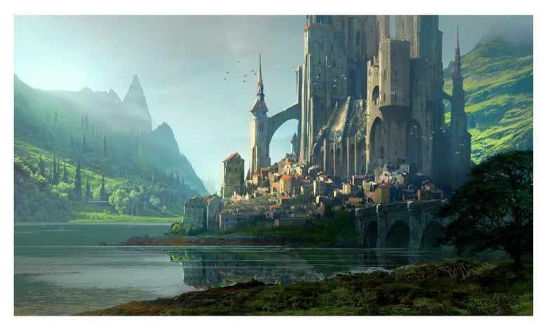 "Image of ""Kvasir Fortress"" 11,7 x 16,5 Print"